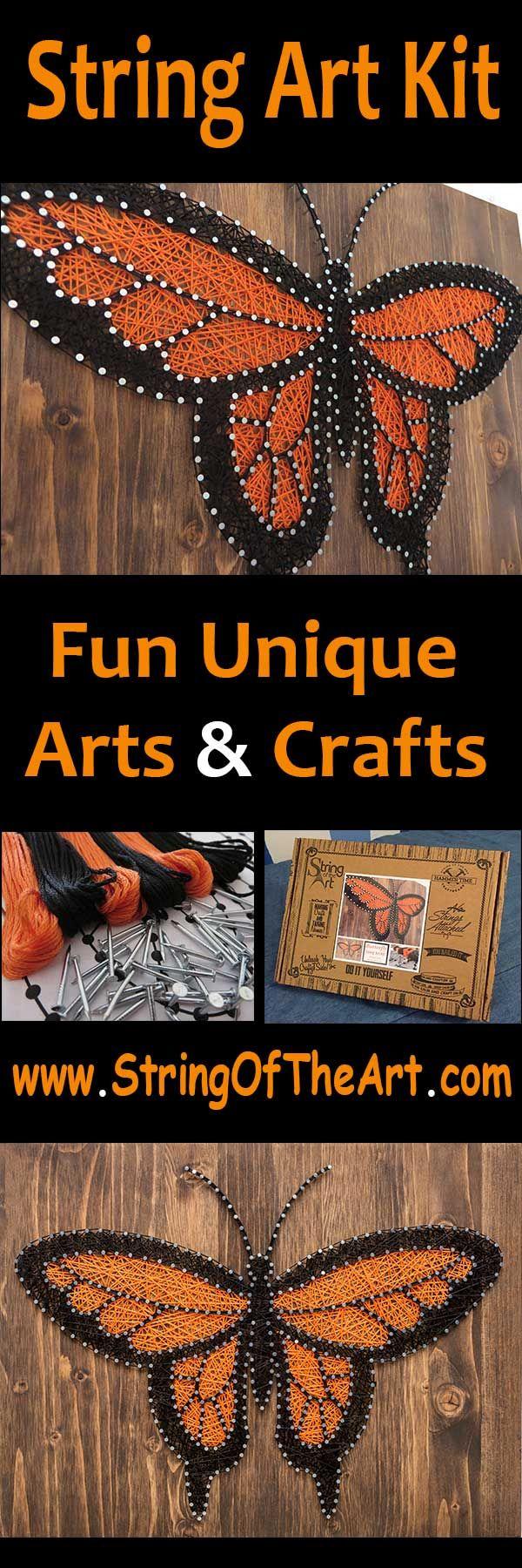 String art craft kit - Diy String Art Crafts Kit Butterfly String Art Monarch Butterfly String Art This