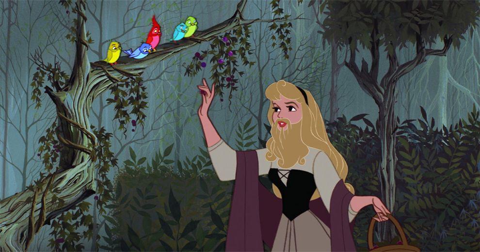 Sleeping Beardy | Your Favorite Disney Princesses With Beards