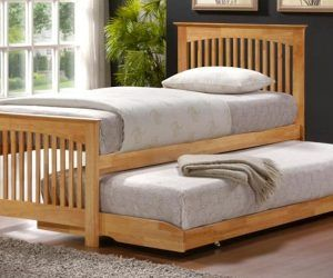 Awesome Childrens Trundle Bed Oak