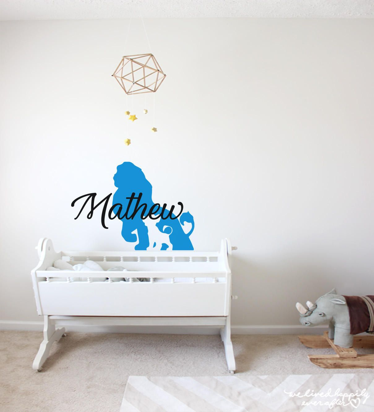 Boy Name Wall Decal Nursery Lion King Decals