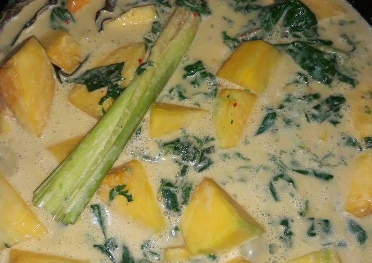 Resep Gulai Labu Kuning Mix Pucuk Daun Singkong Oleh Eva Resep Gulai Makanan Pedas Resep Masakan