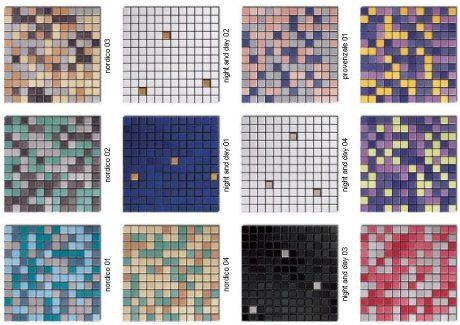 60 colors of mosaic floor tile for a mid-century bathroom