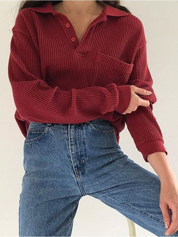 Fashion round collar printed sweatshirt RS35 - nicolemove.com