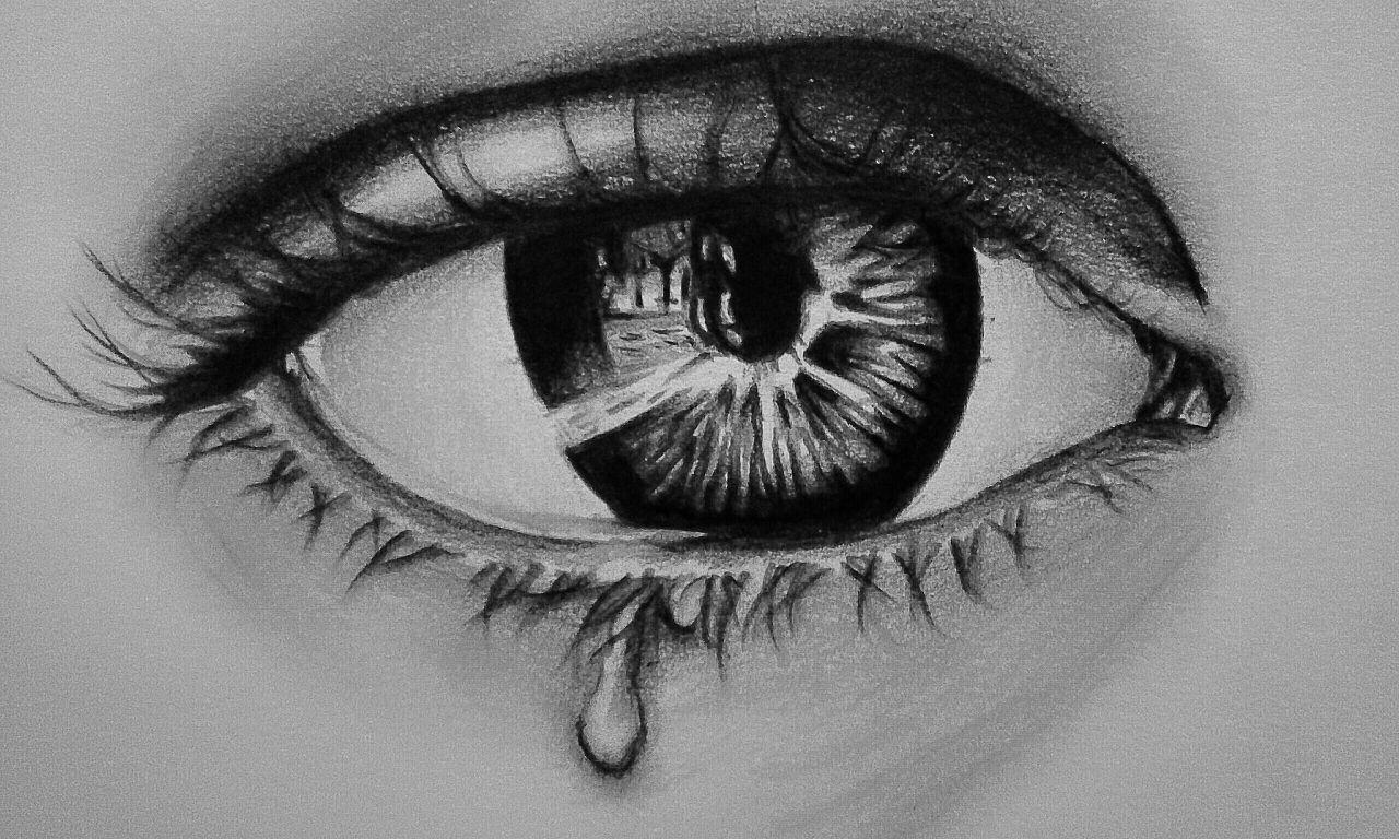 Lukisan Mata Menangis Sedih Lukisan, Menangis, Gambar