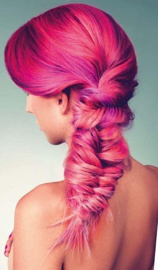 Pretty pink hair braid