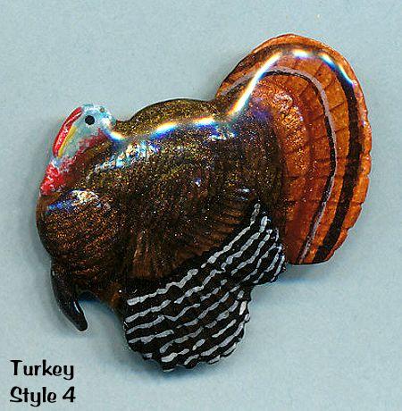 Turkey Pin (Hand-painted Jewelry)