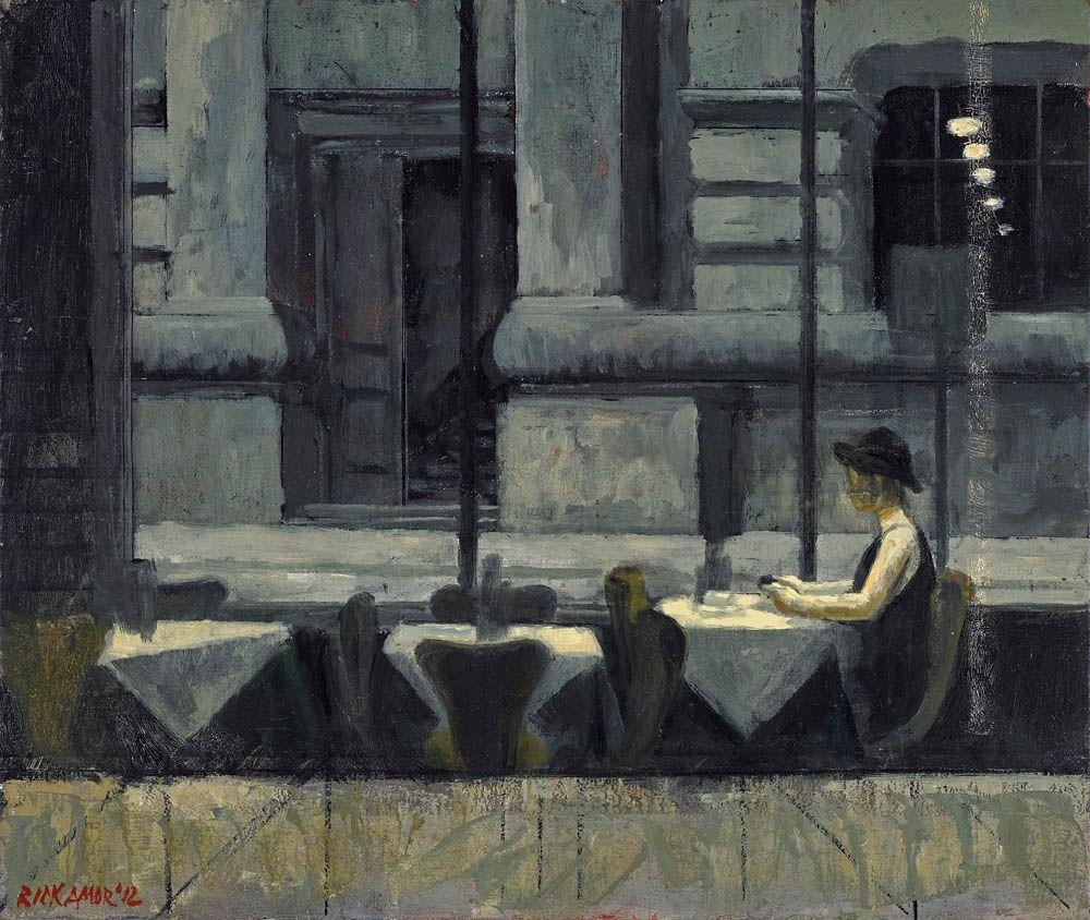"""thunderstruck9: """" Rick Amor (Australian, b. 1948), Study for 'iPhone', 2012. Oil on board, 30 x 35.5 cm. """""""