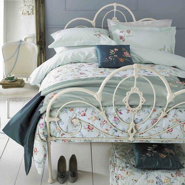 Bett Metall Gestell abgenutzt Farbe Vintage Möbel | camas de ferro ...