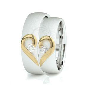 Two Tone 10k White Yellow White Gold Satin Flat His Hers Wedding Bands 0 14 Carat Round Diamond 6mm Cincin Perkawinan Tema Pernikahan Undangan Pernikahan Mewah