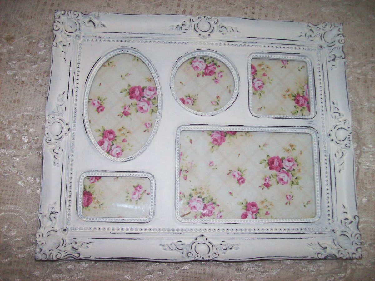 Marco Shabby Chic Estilo Frances Blanco Decape Antiguo | Frames ...