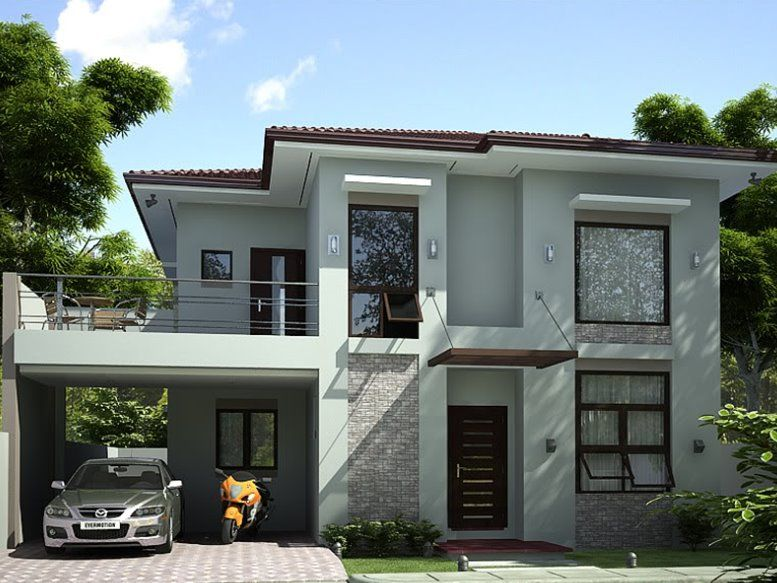 2 Storey Simple Modern House Design Prefered House Pinterest