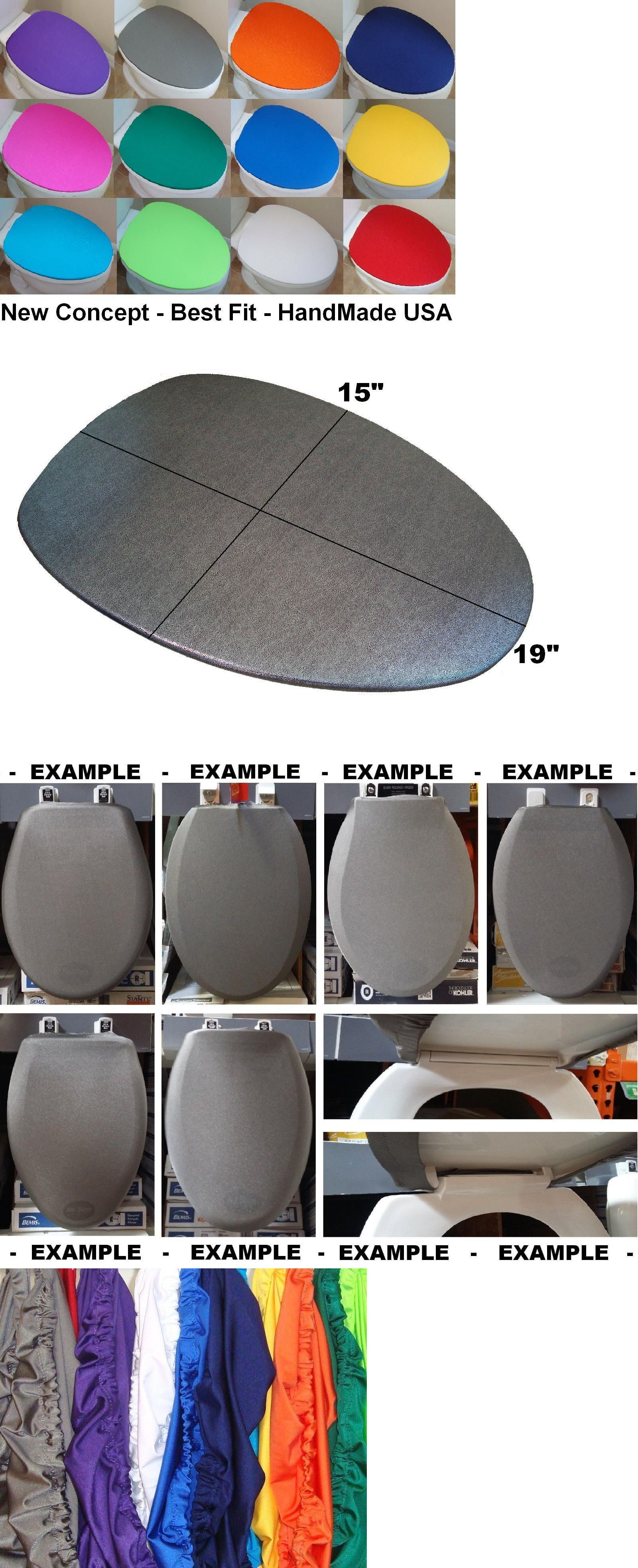 Details About Fabric Lid Cover Toilet Seat For Standard