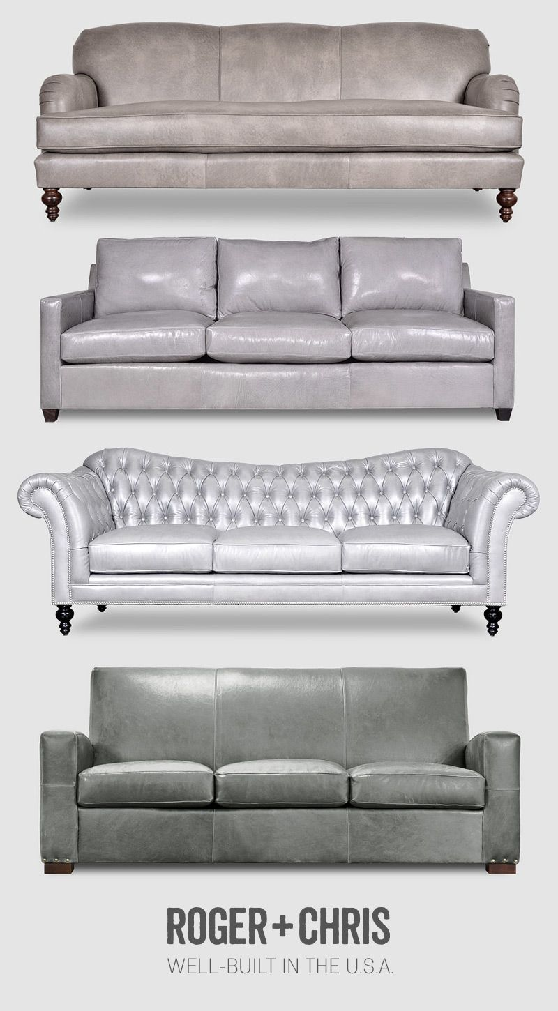 Grey Gray Leather Furniture Roger Chris Leather
