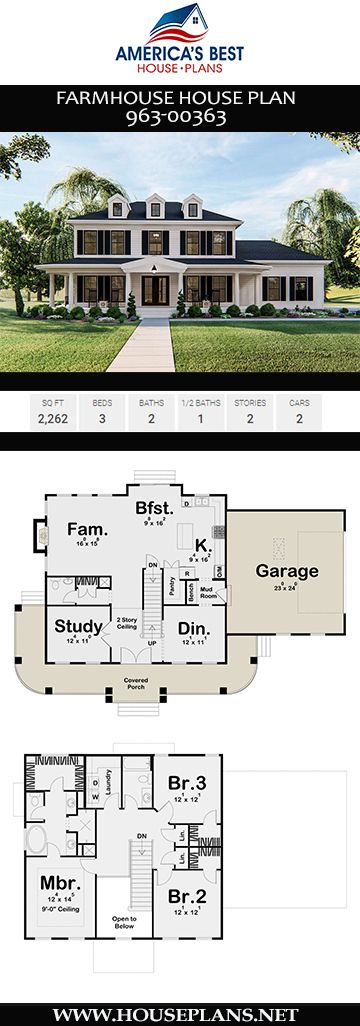 Farmhouse Plan 963-00363 #house