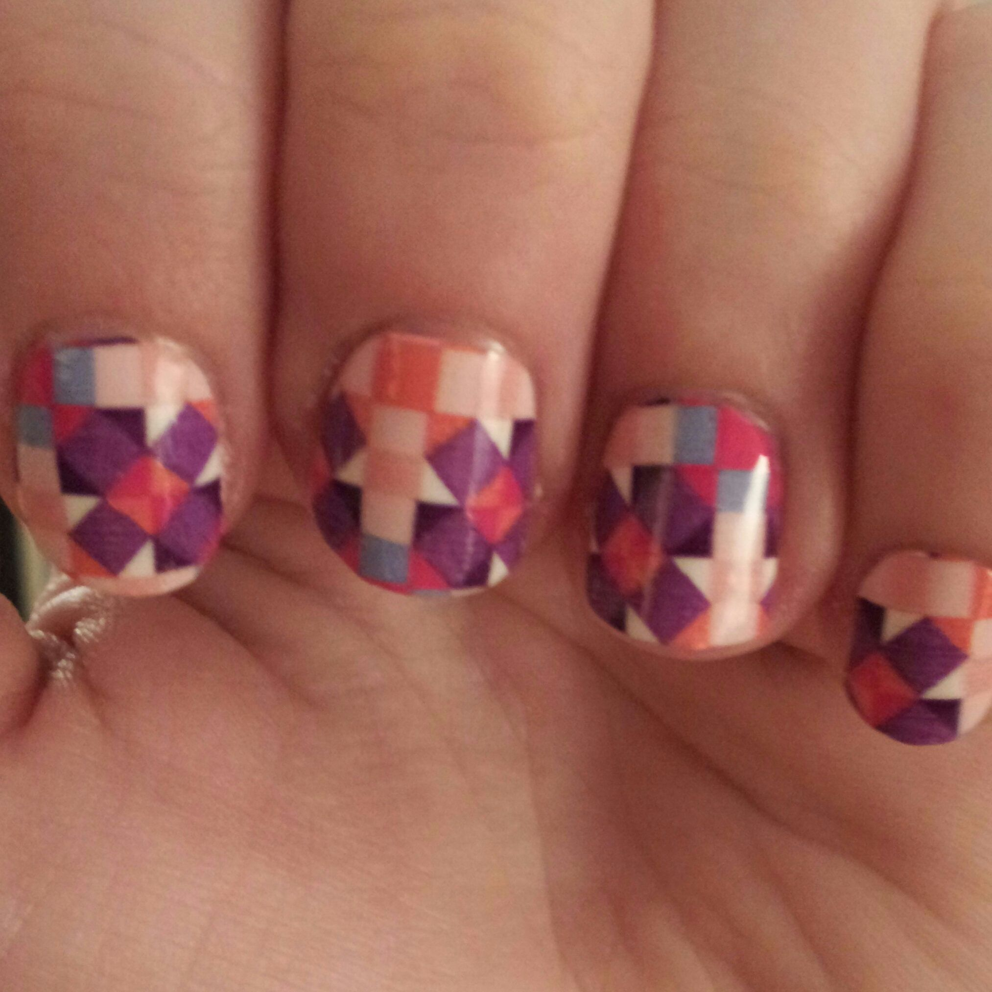 Sally Hansen nail strips in Mod About You. Nailed it.