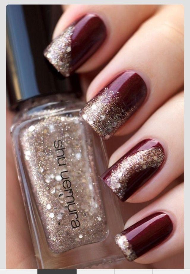 Trending Maroon Nail Polish/designs | esempi di manicure e pedicure ...