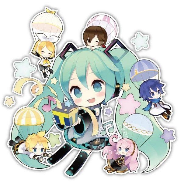 Vocaloid Chibi Miku Hatsune Anime Car Window Bike Decal Sticker 065 Miku Hatsune Chibi Miku Hatsune Miku