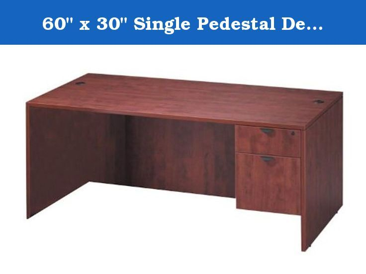 60 X 30 Single Pedestal Desk Kda161 60 X 30 Single Pedestal