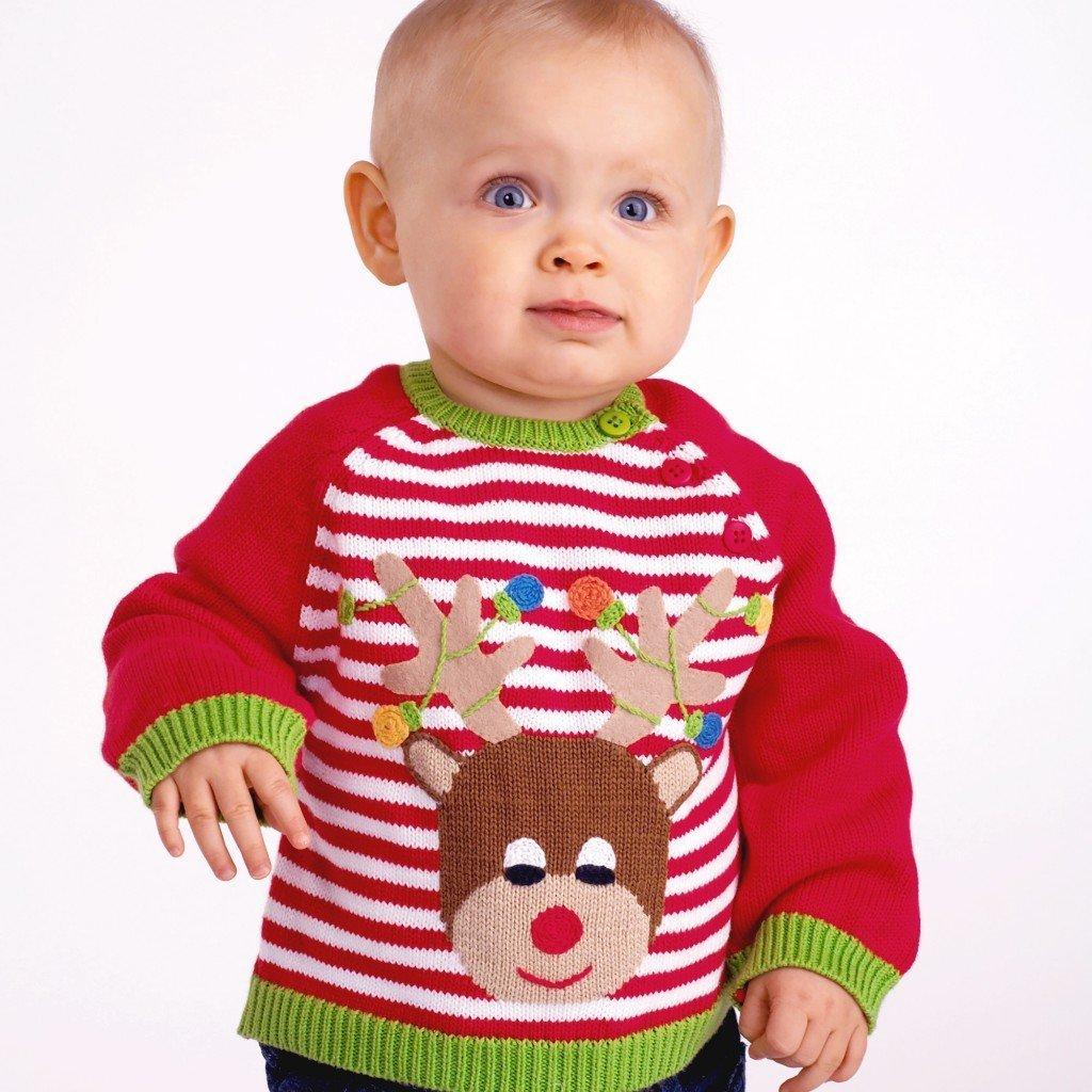 Reindeer Cotton Knit Sweater Reindeer sweater, Christmas