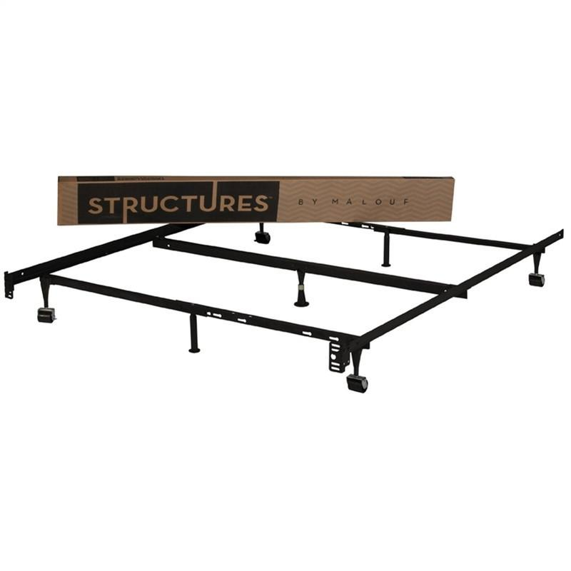 Heavy Duty Adjustable Metal Bed Frame Fits Twin Full & Queen