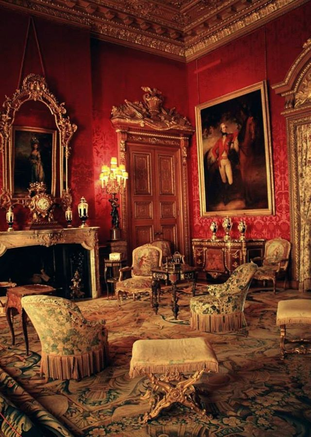 Red Drawing Room в във Waddesdon Manor Nt Victorian Interiors House Interior Home Decor