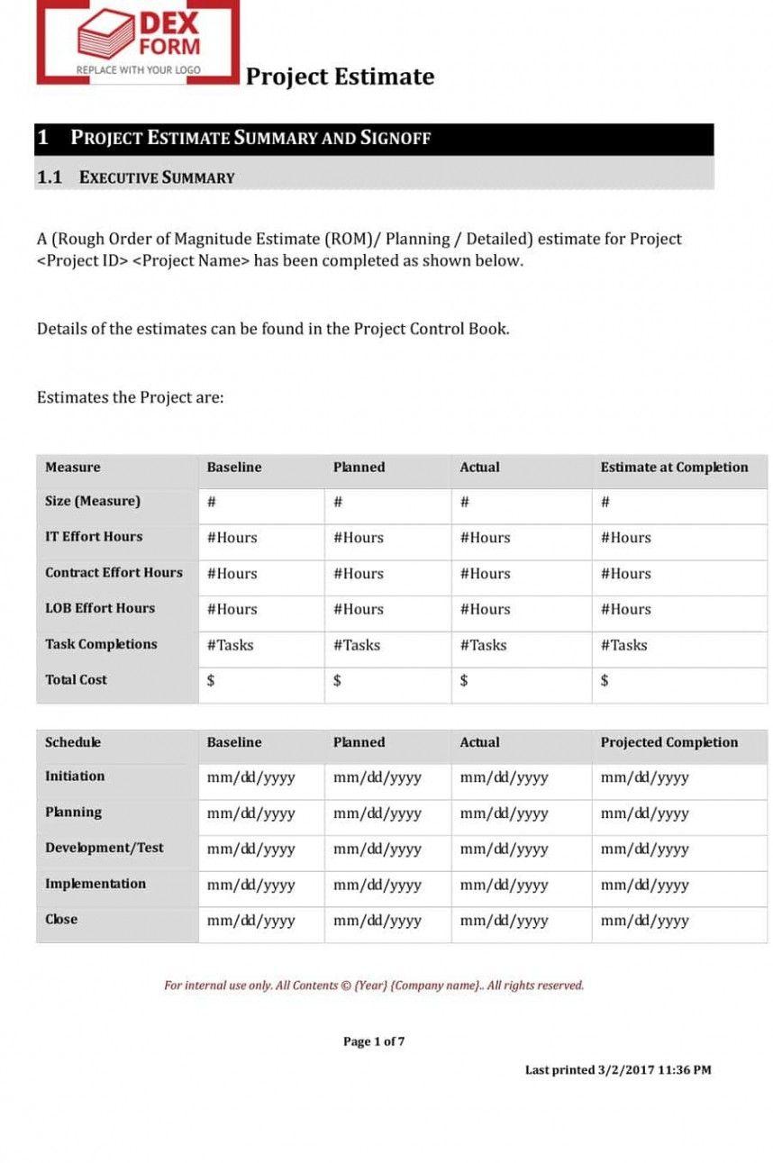 Top Construction Work Order Template Estimate Template Resume