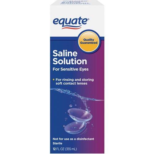 Equate Saline Solution For Sensitive Eyes 12 Oz Saline Solution Sensitive Eyes Saline