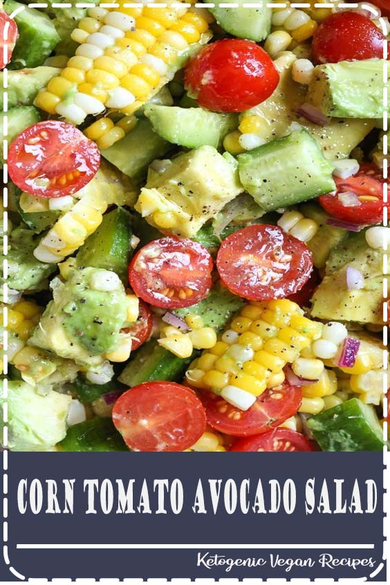 Photo of This Corn Tomato Avocado Salad is summer in a bowl! The perfect side dish with a…