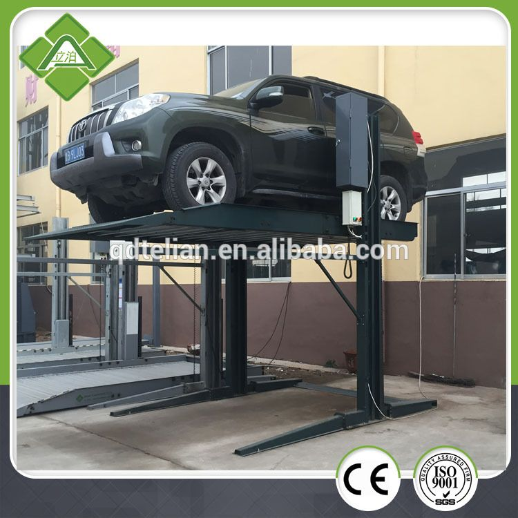 Hot Sale- One cylinder double level 2 post car parking lift