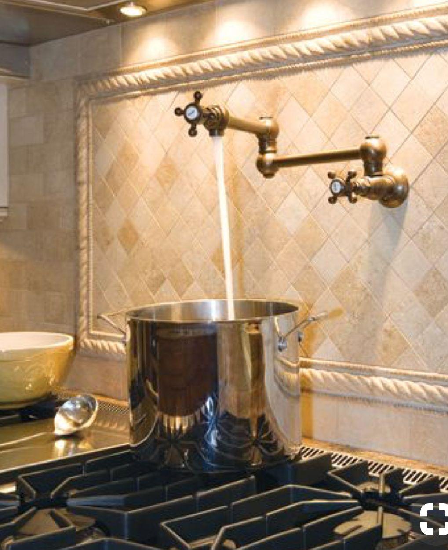 Hot Water Dispenser Right Above Gas Stove Kitchen Backsplash