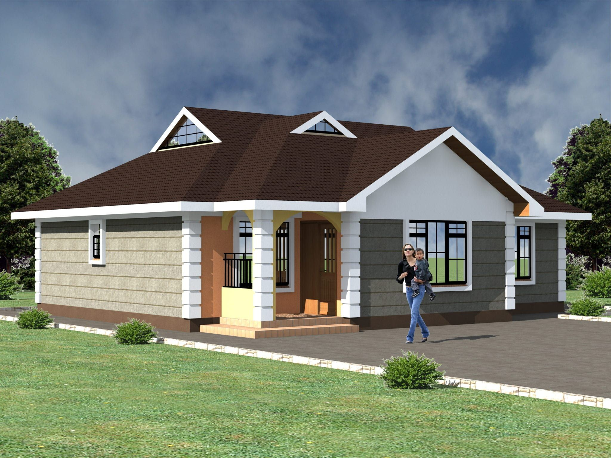 4 Bedroom Bungalow House Plans Kenya Hpd Consult Bungalow House Plans Modern Bungalow House Design House Plan Gallery