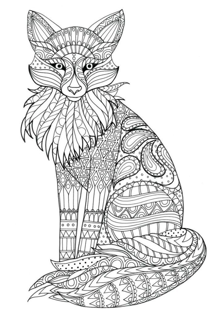 Coloring Rocks Fox Coloring Page Animal Coloring Pages Abstract Coloring Pages