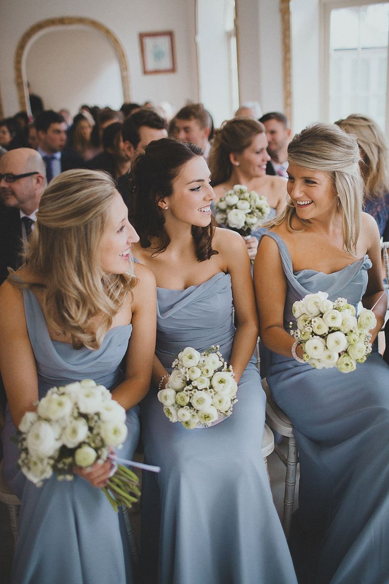 Image By Claudia Rose Carter Photography Dusty Blue Bridesmaid Wedding
