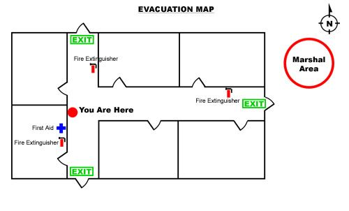 sample-evacuation-map Asbestos Abatement jobs! Pinterest - evacuation plan templates
