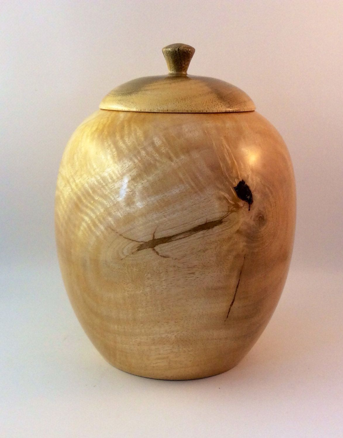 Wooden Cremation Urn, stunning piece crafted from