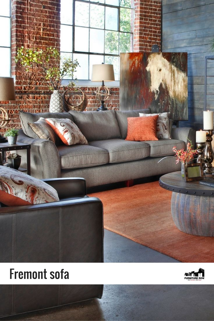 Unwind After A Hard Days Work With The Fremont Sofa In Gray Or