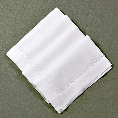 22 X 22 White Linen Hemstitched Dinner Napkins Set Of 4 Large Linen Hem Stitch Luxury Cloth Napkin To View Furt Cloth Napkin Linen Dinner Napkins Napkins Set