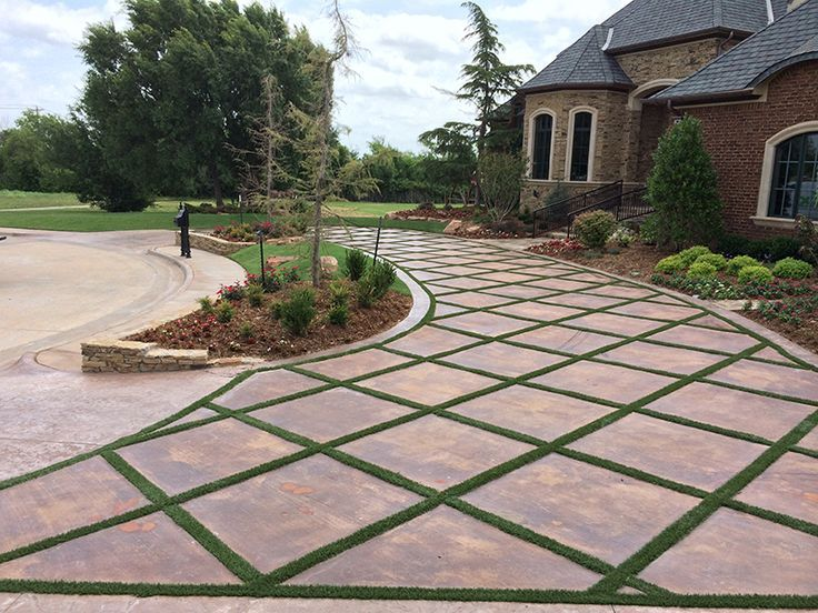 Haus And Home Green Driveways Pavers Grass Paver Driveway Driveway Landscaping Driveway Design