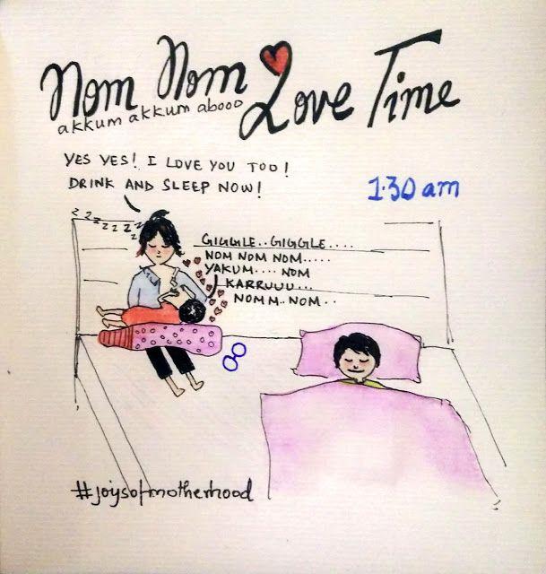 #joysofmotherhood: Nom Nom Love Time