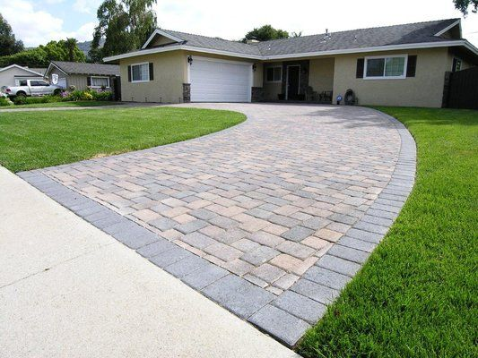 Semi Circle Driveways Small House Cream Brown Charcoal I