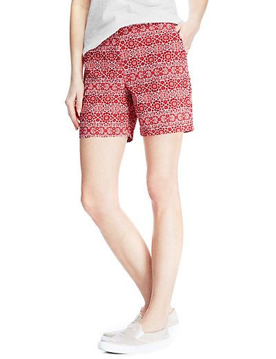 Cotton Rich Abstract Print Chino Shorts | M&S