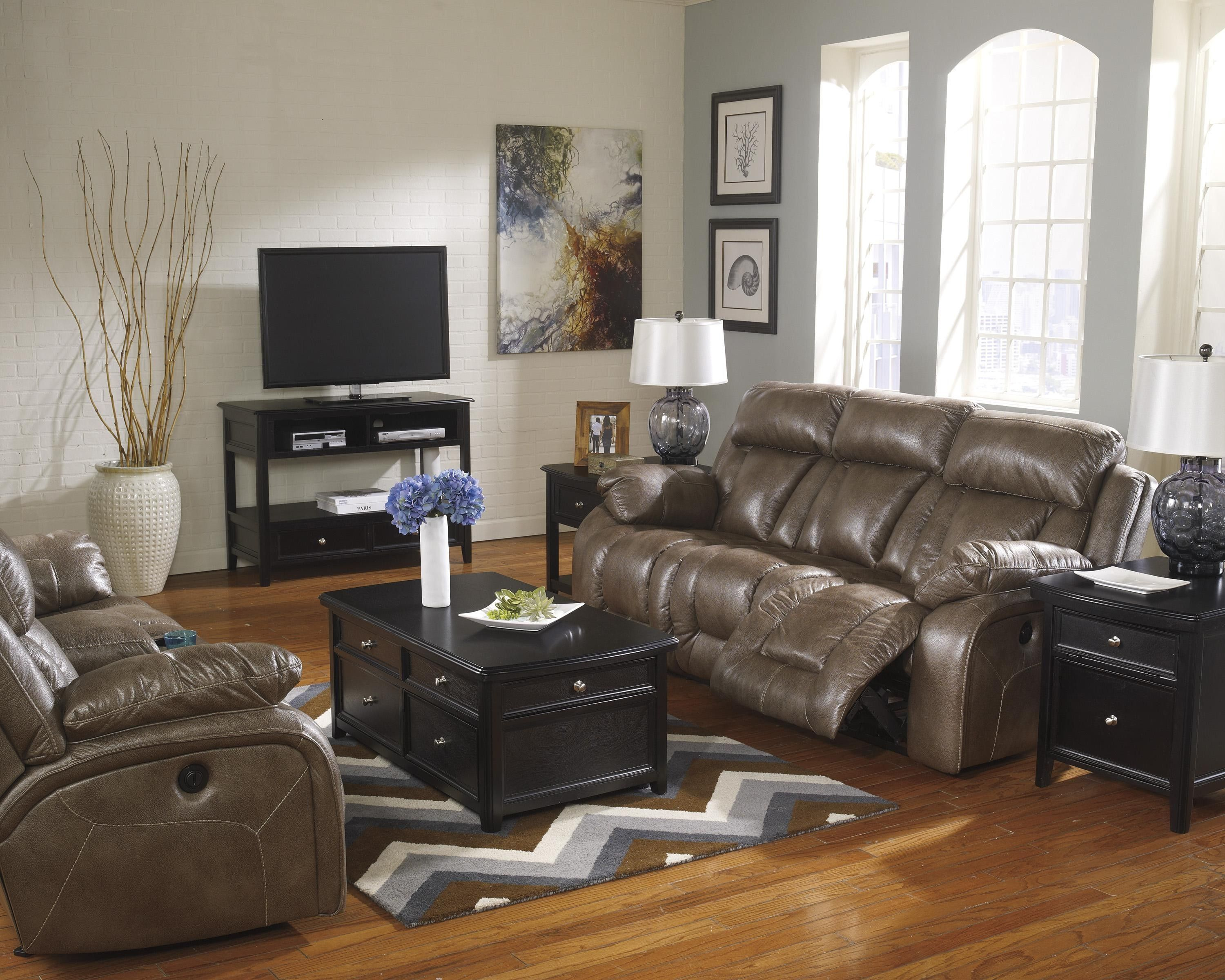 Ashley Furniture Loral Sable Reclining Living Room Group Ahfa