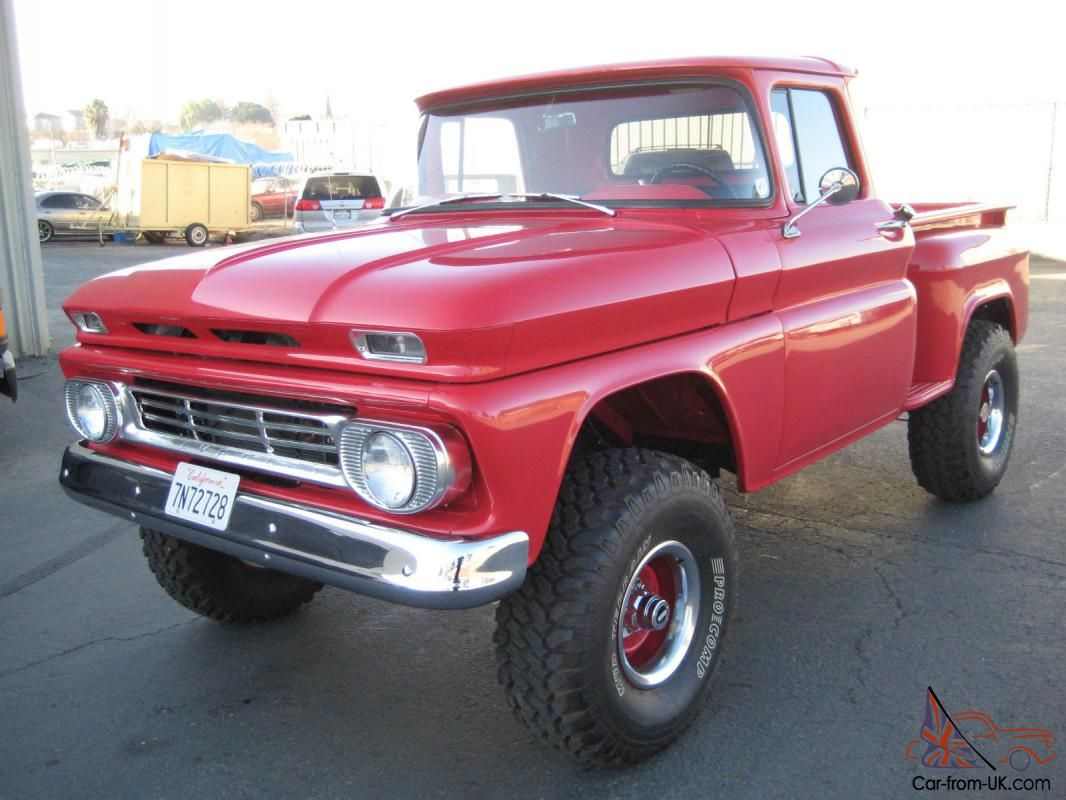 1962 Chevrolet K10 Pickup 4x4 C10 Gmc Trucks Trucks Motor Truck