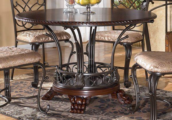 John V. Schultz Furniture U0026 Mattress   Shop Ashley   ROUND DINING TABLE