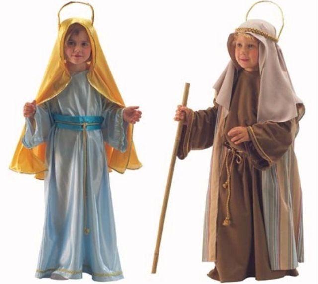 Disfraces Caseros Virgen Sanjose Disfraz De Navidad Disfraces