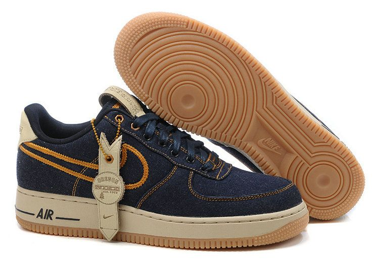 newest 7ac7b 356b8 Jeans Blue Mens Nike Air Force 1 25th Low Shoes 51514 | Air Force ...