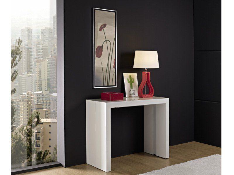 Mesa Consola Extensible para salón comedor o cocina Modelo Funzionale - Gris