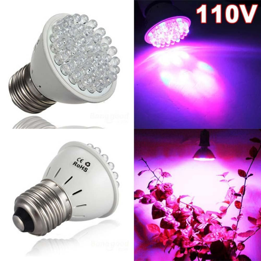 Promotions E27 1 9w 38led Red Blue Hydroponic Plant Grow Light Bulb Lamp 110v Fruits Led Lights Grow Lights For Plants Led Grow Lights Plants Grow Light Bulbs