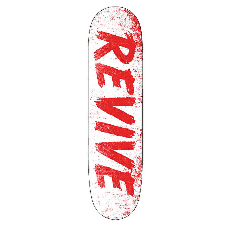 57e4c30e ReVive Scratch Skateboard Deck - White/Red   Skate stuff ...