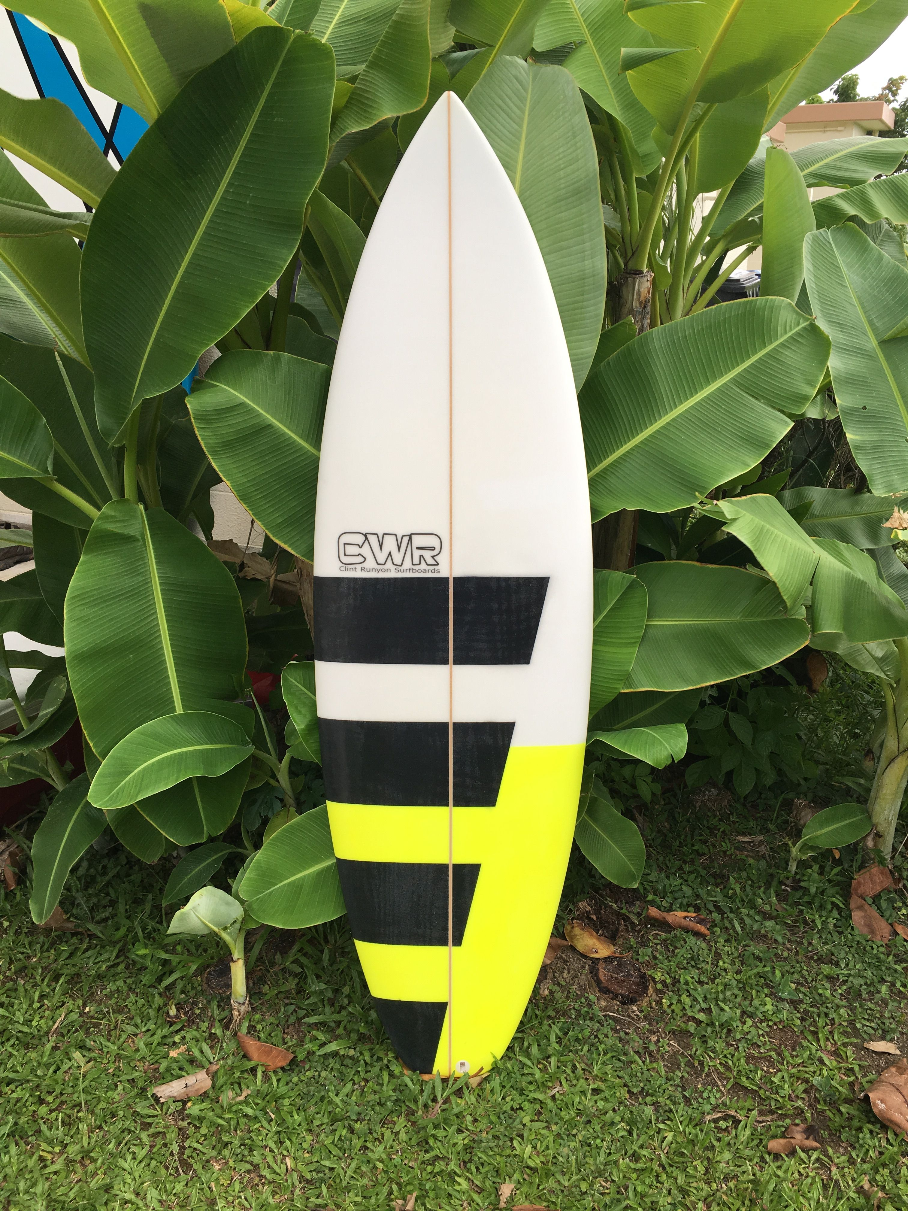 Shortboard with airbrush CWR Surfboards